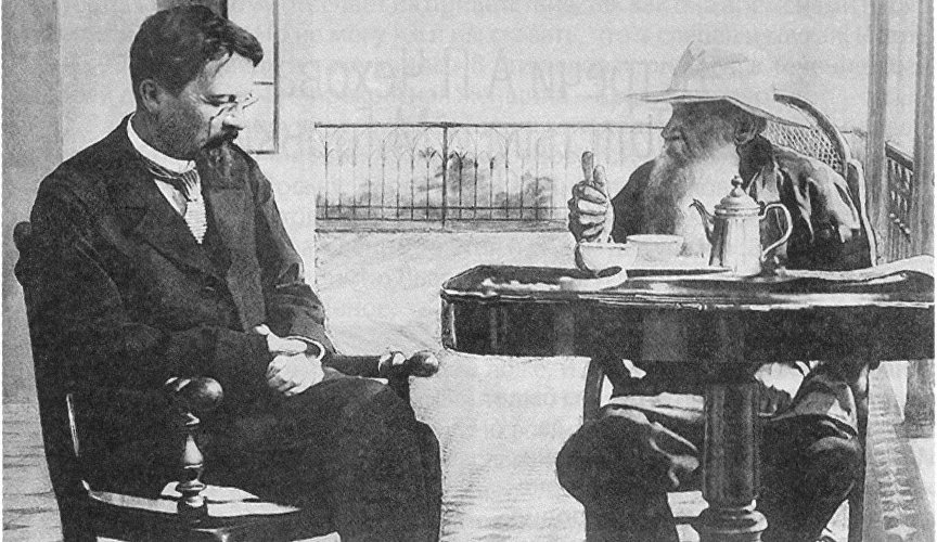 Anton Chekhov and Lev Tolstoy in Yalta, 1901