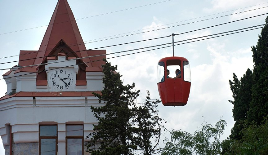 Cable car in Yalta