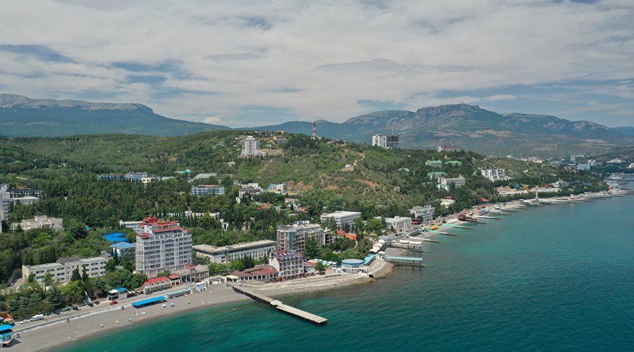 View of the coast of Alushta