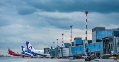 Planes at the airport Simferopol