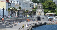 Tourists in Yalta