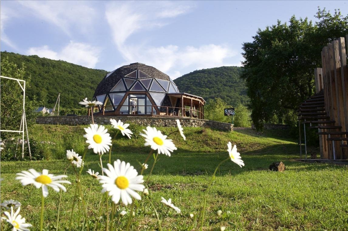 """The first spherical guest house"" in the Bakhchisarai district"