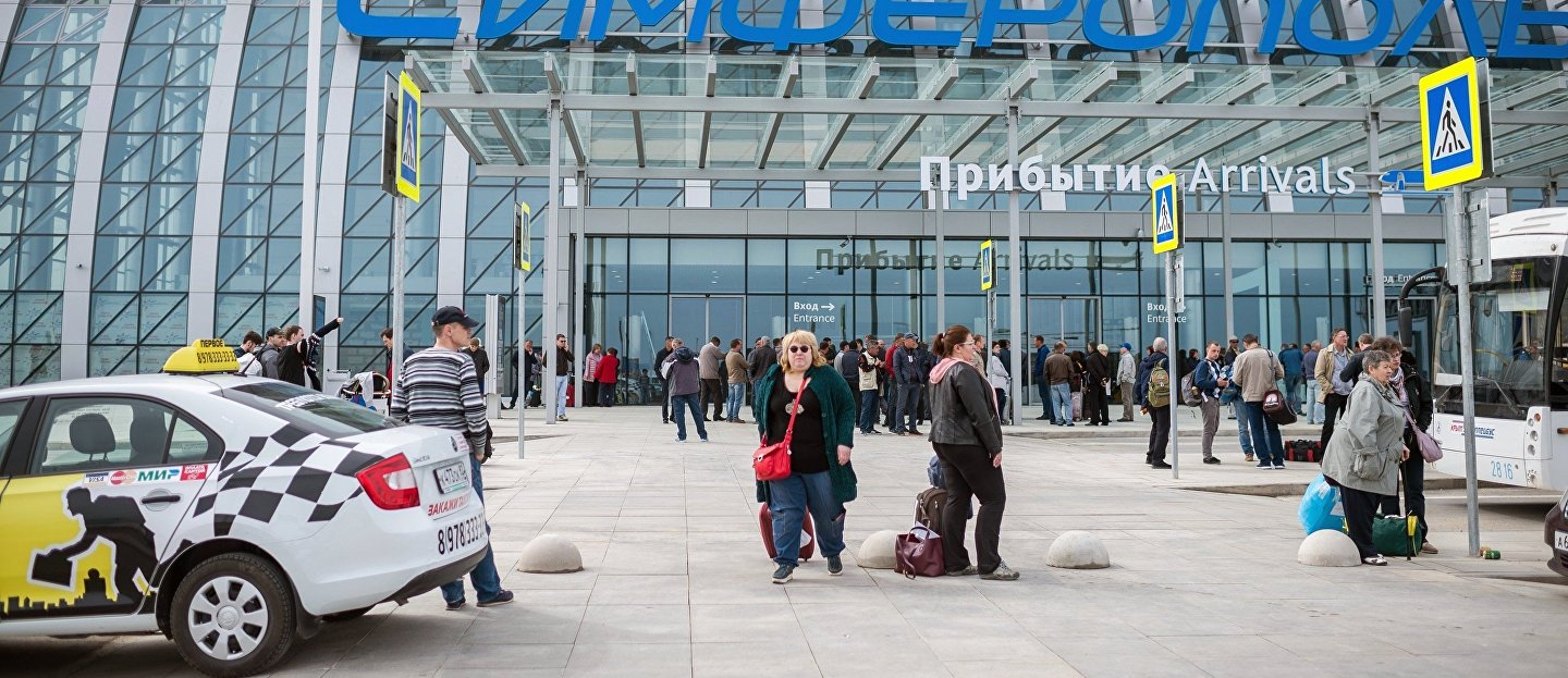 Passengers at Simferopol Airport