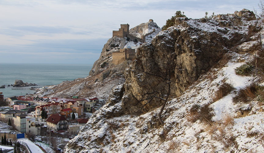 Genoese fortress in winter